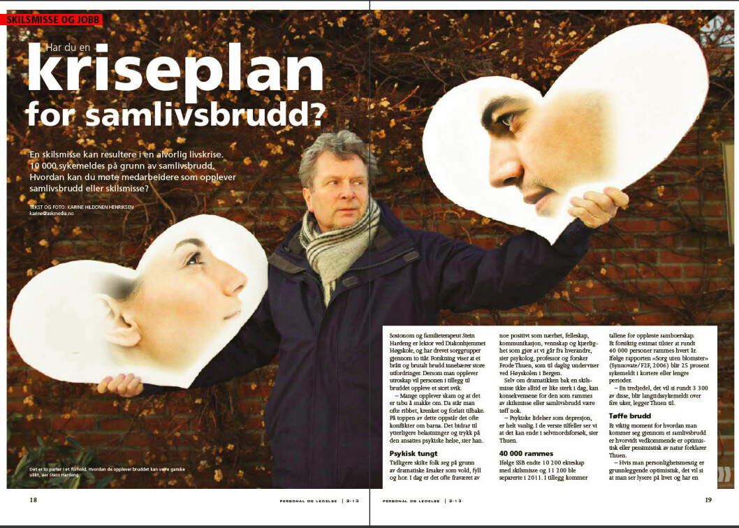 Skilsmisse reportasje nr 2 2013