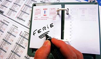 Avvikling av resterende feriedager for 2013
