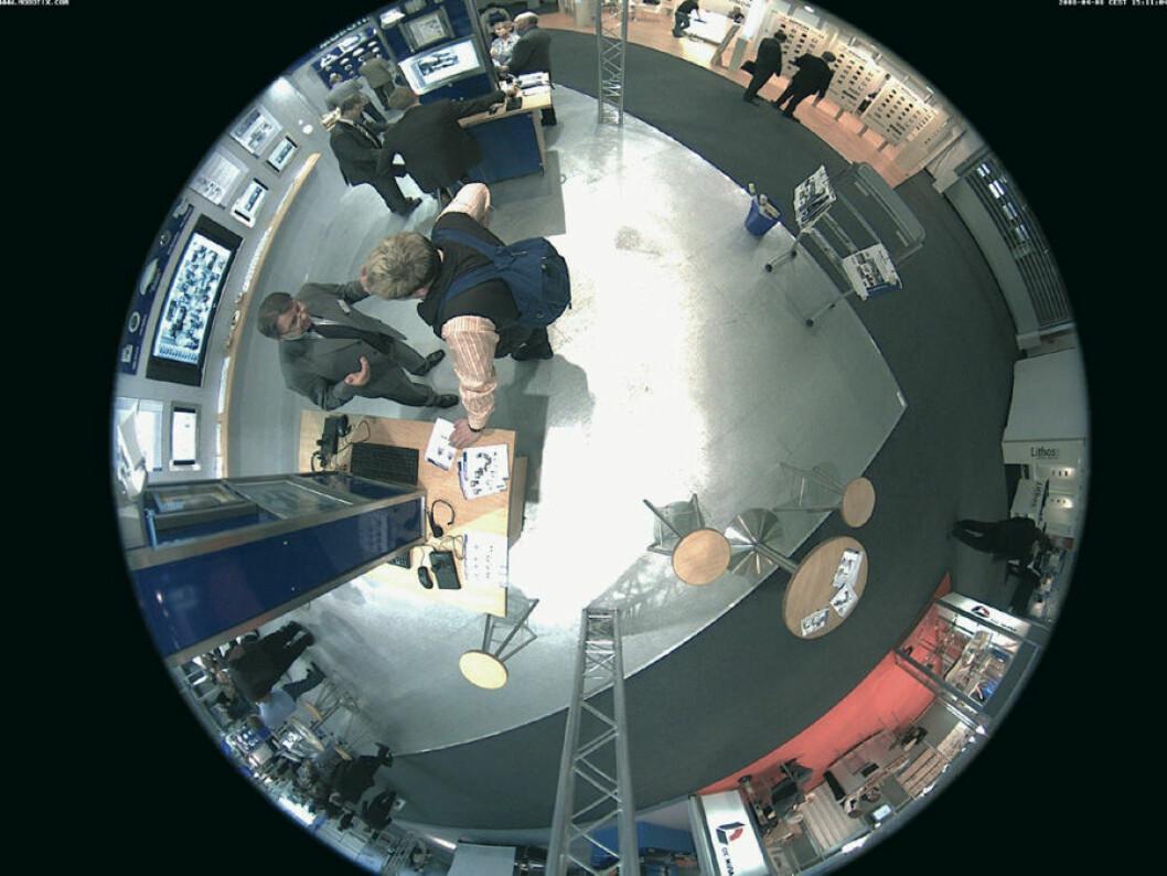 Ett kamera kan overvåke hele rommet (Ill. foto: Mobotix)