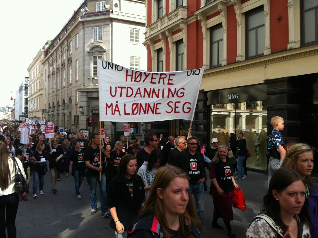 streik oslo uni