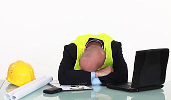 Arbeids- og familieproblemer tærer på nattesøvnen