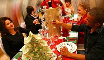 Sjefen har med spandérbuksen på julebordet
