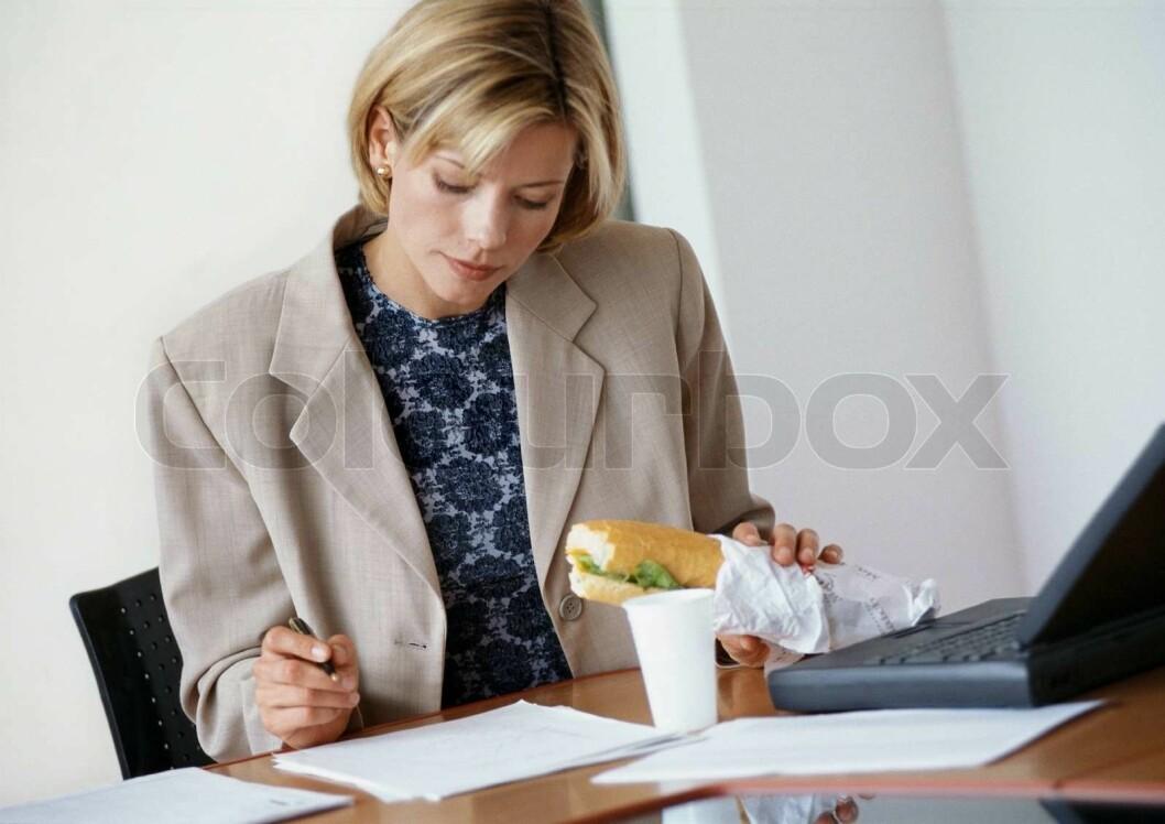 colourbox lunsj hjemmekontor leder ensom