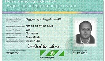 ID-kort skal hindre svart arbeid