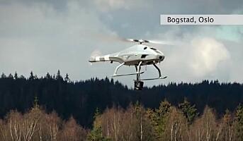 Tester droner i arbeid på kraftledninger