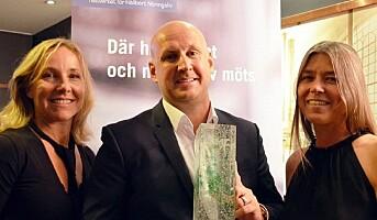 Christoffer Bergfors fikk prisen for Hållbart Ledarskap i Sverige