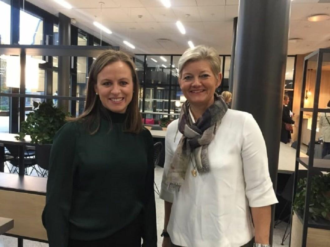 Leder for en dag Kristina Hedemark Kvam og konsernsjef Maalfrid Brath.