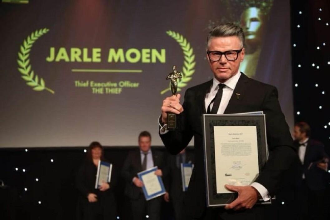 THE THIEFs hotelldirektør Jarle Moen ble kåret til Årets Hotelier 2017. Foto: Camilla Bergan