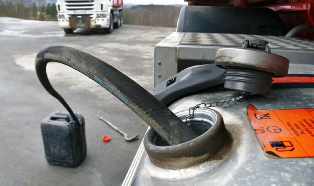 Forekomsten av kriminalitet som dieseltyveri henger sammen med forekomst av lastebiler fra lavkostland. Illustrasjonsfoto: Stein Inge Stølen