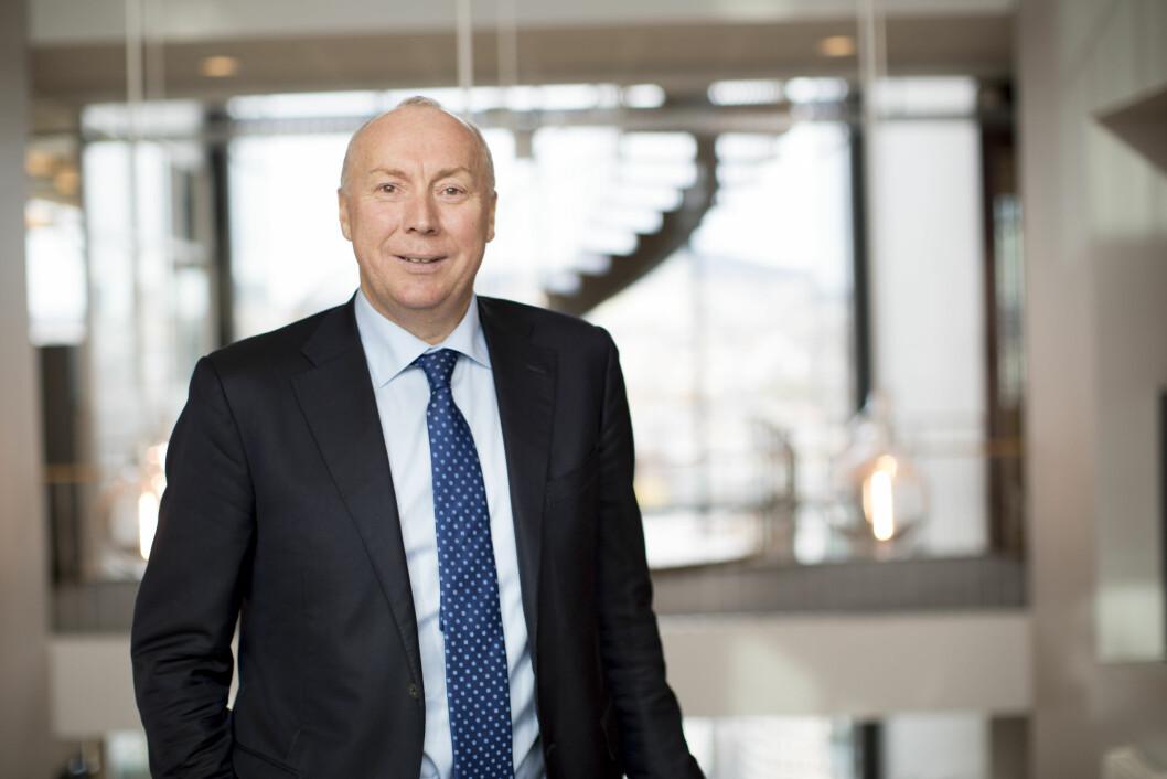 VOKSER. Kjell Rusti konstaterer at Sopra Steria leverte gode 2017-resultater. Foto: Hanne Kristine Fjellheim, Sopra Steria