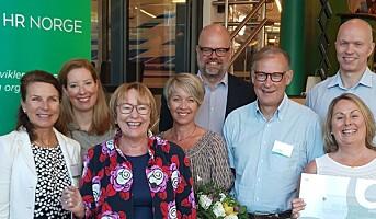 HR Norges Kompetansepris 2018 til Garantiinstituttet for eksportkreditt