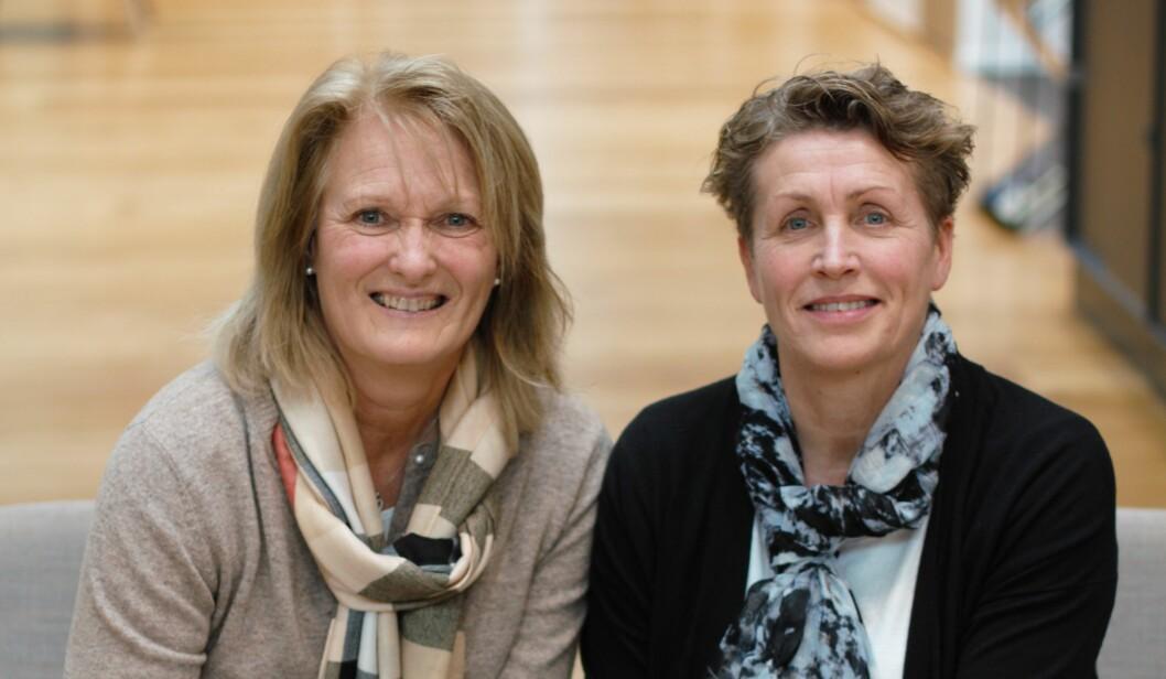 Det er det systematiske og langsiktige sykefraværsarbeidet som har gitt resultater i Borregaard, mener Kari Strande og Tone Bente Solberg. (Foto: Ole Alvik)
