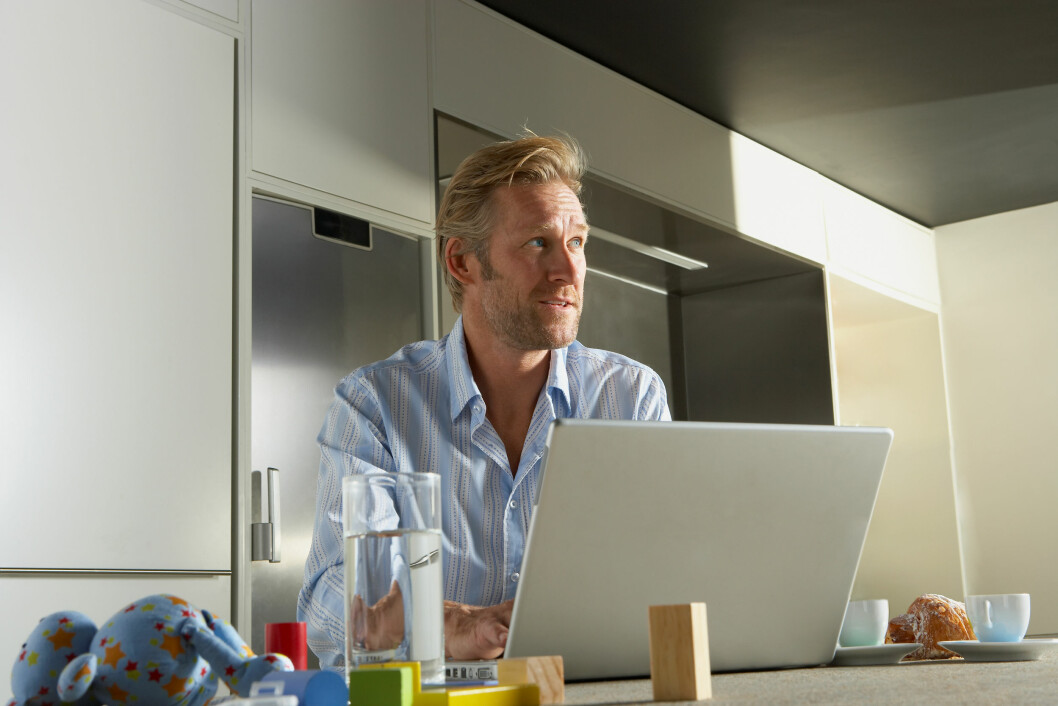 Gjør hjemmekontoret til et kontor; ha en kontortid som både du og andre respekterer. (Ill.foto: Colourbox)