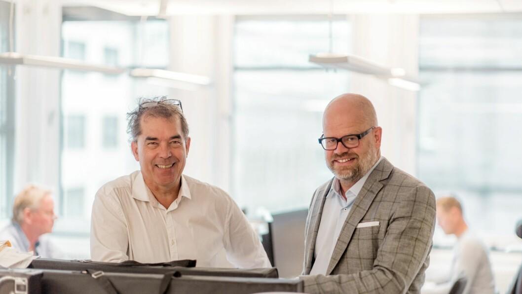 Harald Sørgaard-Djupvik (t.v) er organisasjonspsykolog i Kantar TNS og Even Bolstad er daglig leder i HR Norge.(Foto: HR Norge)
