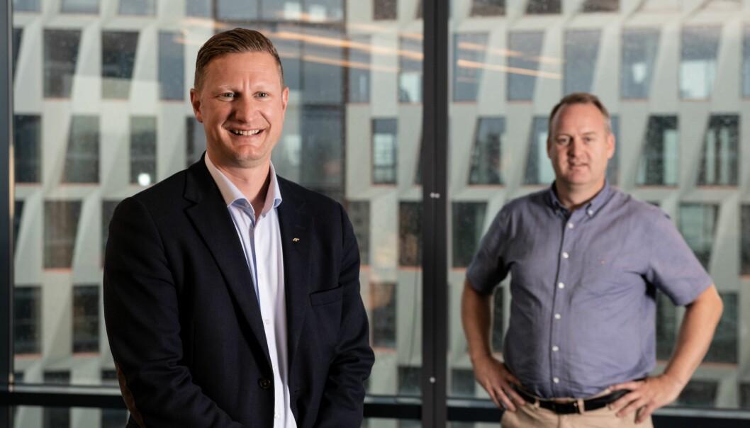 Amund Tøftum (t.v.) og Morten Grongstad, AF Gruppen.
