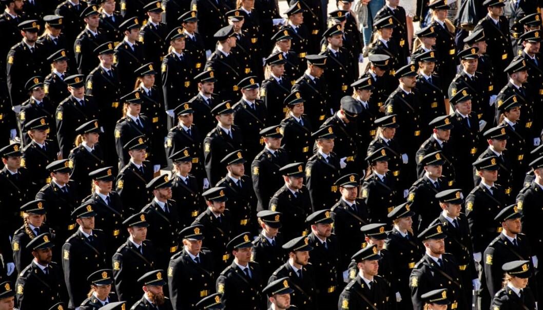 Det har vært en positiv utvikling i jobbsituasjonen for nyutdannet politi. Her fra avslutningen i Oslo i 2019.