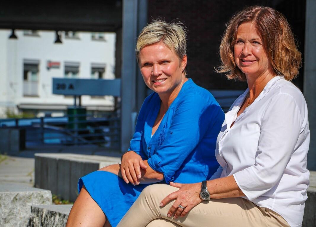 Cathrine Lie Strand (t.v.) og Mona Elise Kotte-Eriksen i Potensialbygger AS.