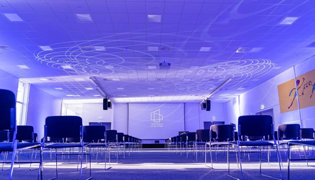 Konferansegjester i Trondheim Spektrum skal sitte med god avstand til hverandre.