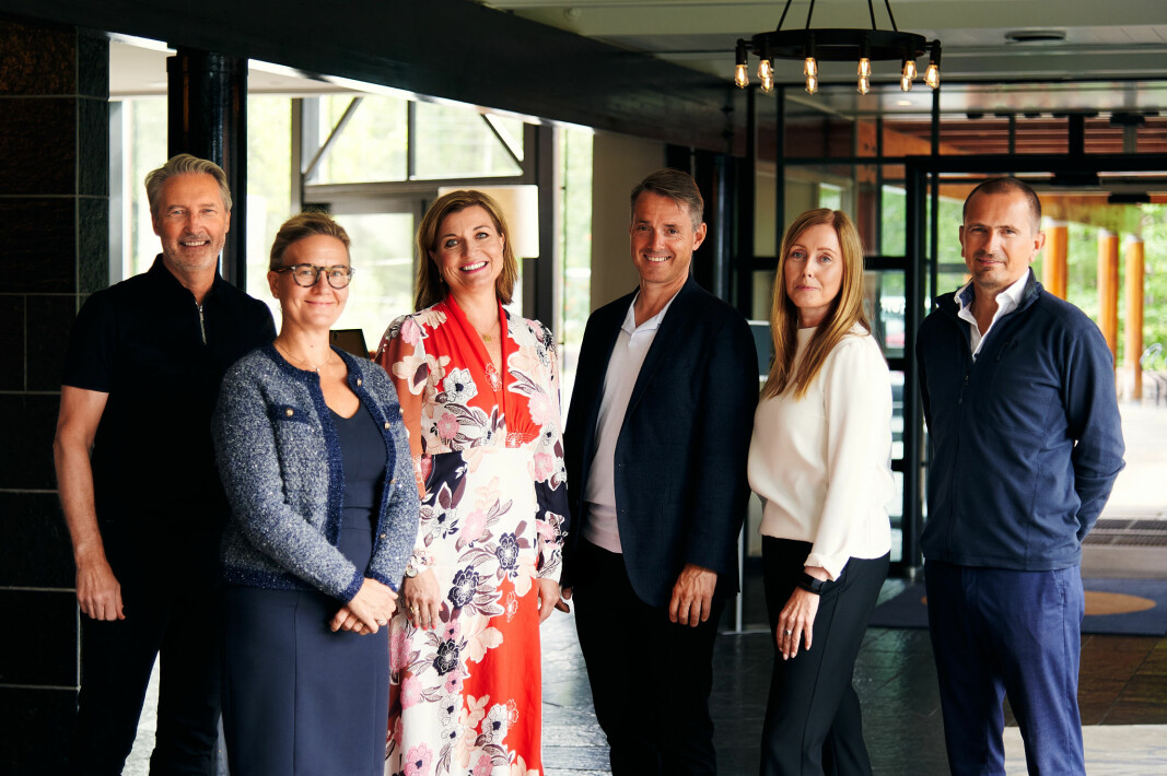 Virkes nye ledergruppe, fra venstre Per Hamann, Mille Haslund Mellbye, Hege Lunder, Ivar Horneland Kristensen, Irlinn Tystad og Stian Sigurdsen.