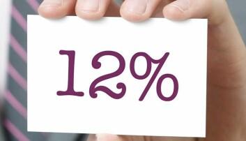 Nå øker mva-satsen til 12 %
